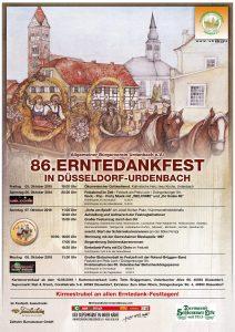 Plakat Erntedankfest 2018