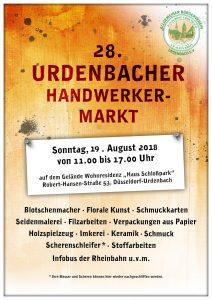 Plakat Handwerkermarkt 2018