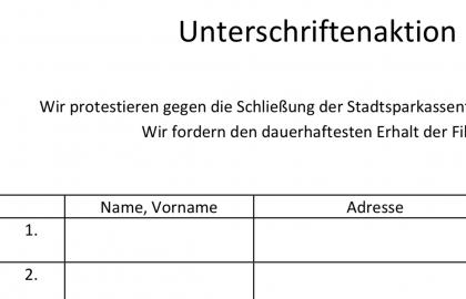 Schließung Stadtsparkasse Urdenbach