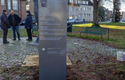 Einweihung Stele am Josef-Kürten-Platz