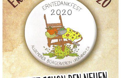 Plakat Button Erntedankfest 2020